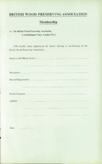Record of the 1966 Annual Convention of the British Wood Preserving Association : Page 9