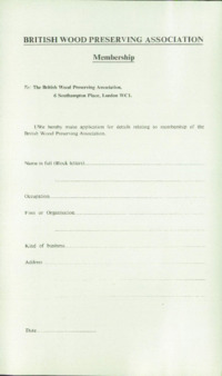 Record of the 1969 Annual Convention of the British Wood Preserving Association : Page 7