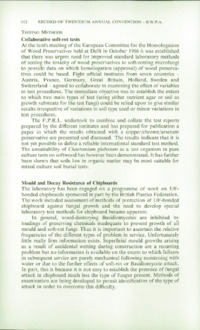 Record of the 1970 Annual Convention of the British Wood Preserving Association : Page 122