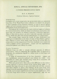 Record of the 1974 Annual Convention of the British Wood Preserving Association : Page 103