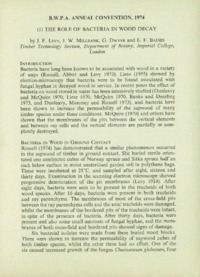 Record of the 1974 Annual Convention of the British Wood Preserving Association : Page 11