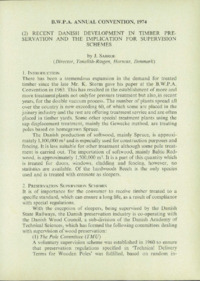 Record of the 1974 Annual Convention of the British Wood Preserving Association : Page 23