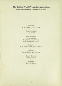 Record of the 1974 Annual Convention of the British Wood Preserving Association : Page 3