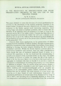Record of the 1976 Annual Convention of the British Wood Preserving Association : Page 123