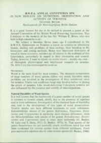 Record of the 1976 Annual Convention of the British Wood Preserving Association : Page 141