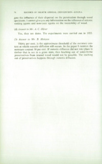 Record of the 1958 Annual Convention of the British Wood Preserving Association : Page 84