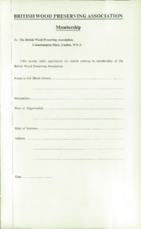 Record of the 1964 Annual Convention of the British Wood Preserving Association : Page 9