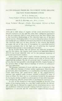 Record of the 1965 Annual Convention of the British Wood Preserving Association : Page 109