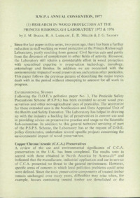 Record of the 1977 Annual Convention of the British Wood Preserving Association : Page 11