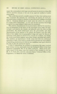 Record of the First Annual Convention of the British Wood Preserving Association : Page 150