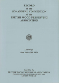 Record of the 1979 Annual Convention of the British Wood Preserving Association : Page 1