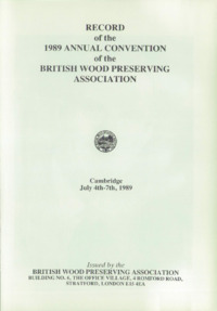 Record of the 1989 Annual Convention of the British Wood Preserving Association : Page 3