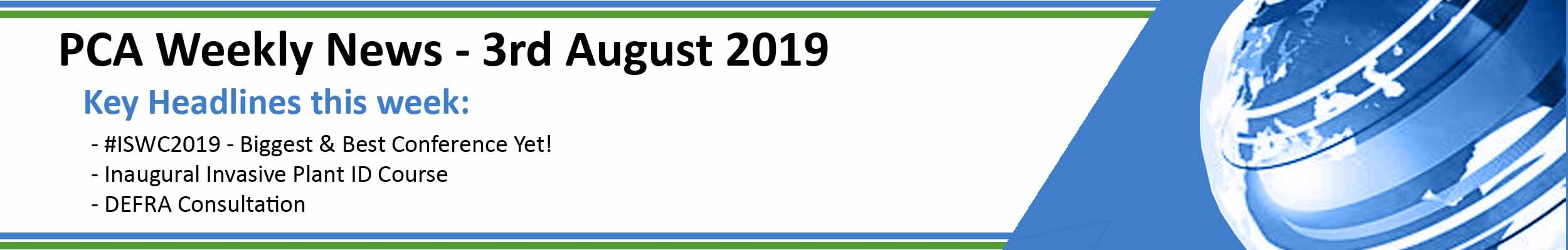 PCA Weekly News - 3rd August 2019