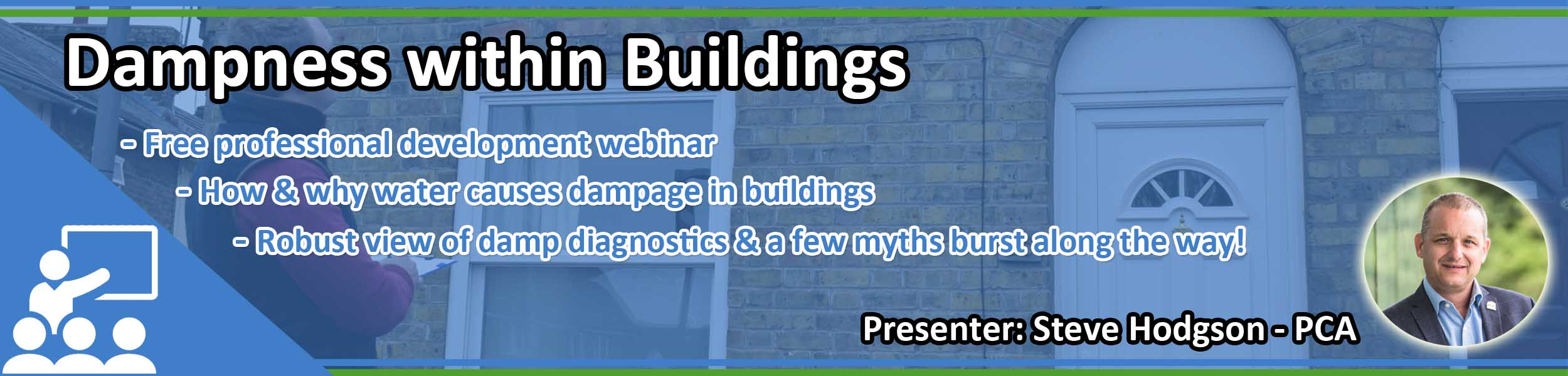Dampness within buildings webinar