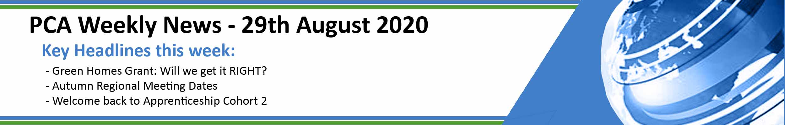 PCA Weekly News - 29th August 2020
