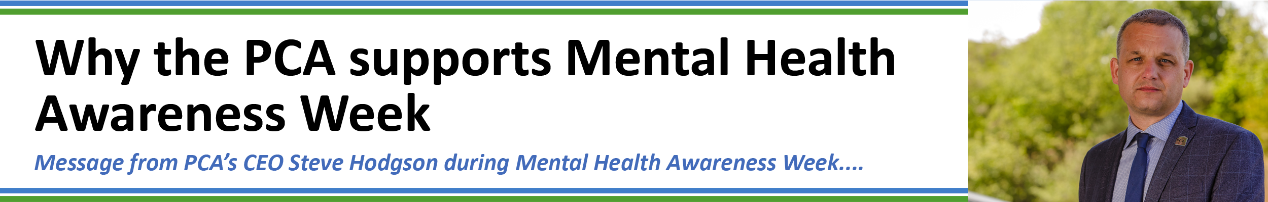 Steve_Why the PCA supports Mental Health Awareness Week