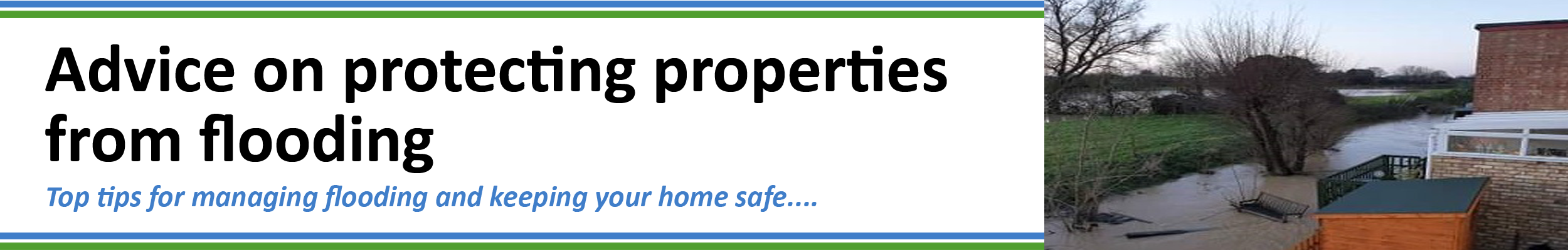 Advice on protecting properties from flooding
